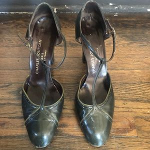 Charles Jourdan Vintage Leather T-Strap Heels